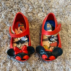 Mini Melissa Mickey and Minnie mouse Mary Janes